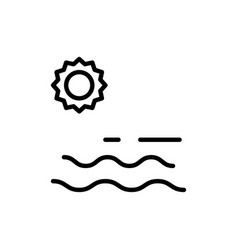 sea and sun icon sign vector image