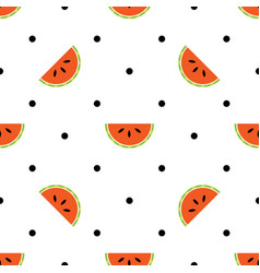 seamless summer pattern with watermelon slices on vector image