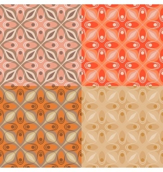 set 4 patterns with bold geometric shapes vector image