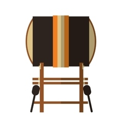 single gong icon vector image