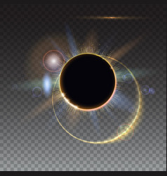 solar eclipse abstract light-rays of light vector image