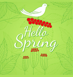 spring season theme vector image