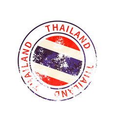 thailand sign vintage grunge imprint with flag on vector image