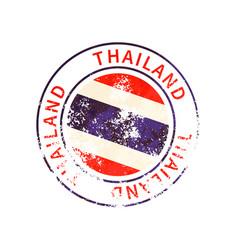 thailand sign vintage grunge imprint with flag vector image
