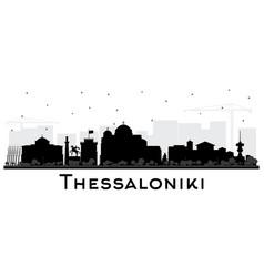 thessaloniki greece city skyline silhouette vector image