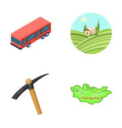 Transport mine and other web icon in cartoon vector