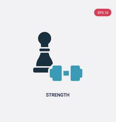 Two color strength icon from strategy concept vector
