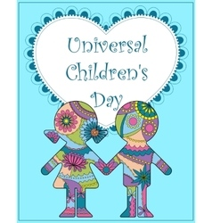 Universal children day background vector
