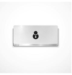 user button vector image