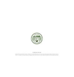 vintage retro farm garden agriculture badge vector image