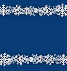 Winter snowflake blue background vector