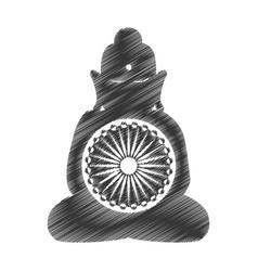 buddha india culture icon vector image