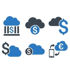 Cloud Banking Flat Icons vector image vector image