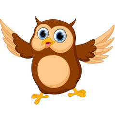 happy owl cartoon vector image