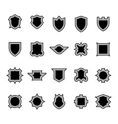 Shield set 3 vector image vector image