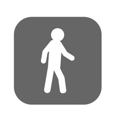 walking child icon style is flat symbol vector image