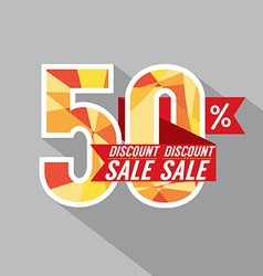 50 Percent Discount vector image