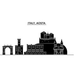 italy aosta architecture city skyline vector image vector image