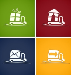 set icons for delivery service vector image vector image