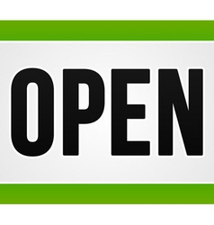 Green Open Sign vector image