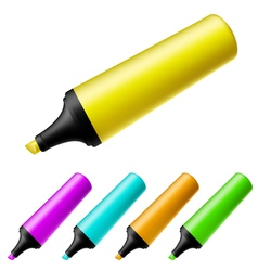 Highlighter set vector image vector image