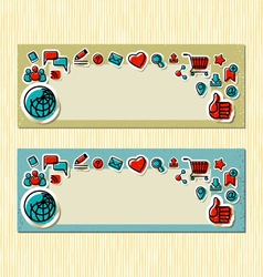 Internet Communication Banners vector image vector image