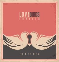 Love birds unique creative concept vector image