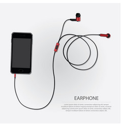 music earphones with telephone vector image vector image
