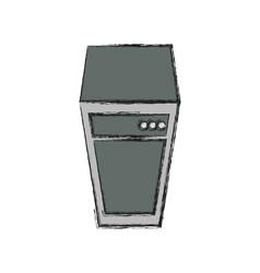 Storage database tower vector