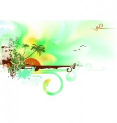 tropical ocean coast vector image vector image