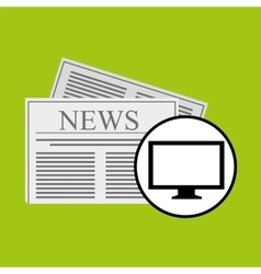 concept digital news headline icon vector image