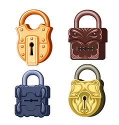game metal locks vector image vector image