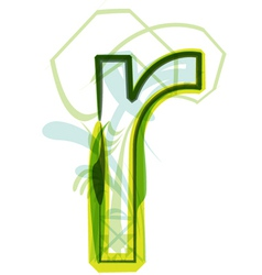 Green letter R vector image