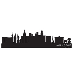 las vegas nevada skyline detailed silhouette vector image vector image