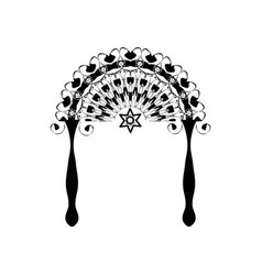 vintage graphic chuppah jewish wedding canopy for vector image