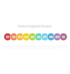 10 step process modern infographic diagram graph vector image