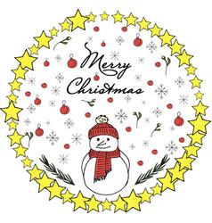 a snowman christmas vector image