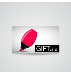 Abstract Beautiful Tools Gift Card Design vector