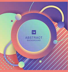abstract modern bright geometric circle pattern vector image