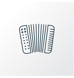 Accordion icon line symbol premium quality vector