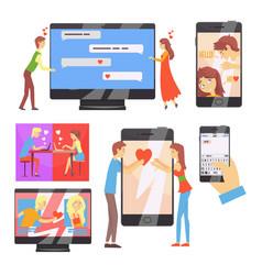 acquaintance through the social network distance vector image