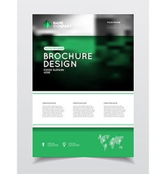 Annual report Brochure with text A4 size c vector image