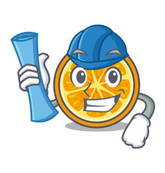 architect orange character cartoon style vector image
