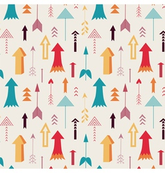 Arrows directing up seamless pattern vector