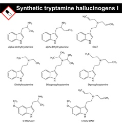 Artificial tryptamine hallucinogens vector