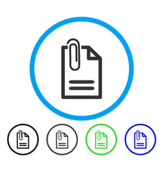 attach document rounded icon vector image
