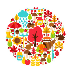 autumn season concept vector image