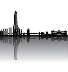 bangkok reflect vector image
