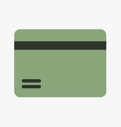Bank card icon vector