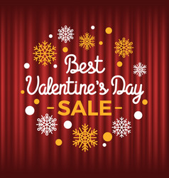 best valentines day sale and discounts holiday vector image